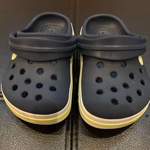 Crocs' Kids Crocband Clog, Navy/Citrus, Size 5